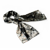 Black Revitalized Paisley Patterns Scarf(Small) - $14.99