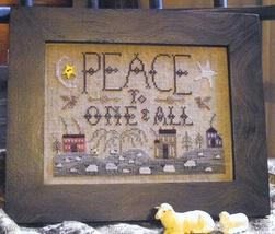 Peace To One And All - A Summer Landscape cross stitch chart Homespun Elegance - $5.40