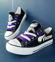 vikings shoes women converse style vikings sneakers minnesota fans birth... - $56.00