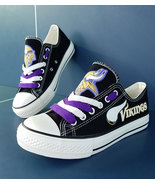 vikings shoes women converse style vikings sneakers minnesota fans birth... - $55.00+