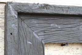 """Antique Washed Gray Floating Frame 3.5""""--Vintage Rustic Decor Reclaimed Wood Fra - $40.00"""