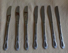 8 Oneida Homestead Stainless Knives Simeon & George Rogers glossy flatware - $15.47