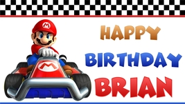 Super Mario Brothers Kart -Custom- Birthday Banner - $34.95