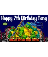 Teenage Mutant Ninja Turtles Custom -Personalized- Birthday Banner Decor... - $34.95