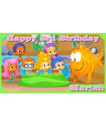Bubble Guppies Personalized Vinyl Birthday Banner Party Decoration -Clas... - $34.95