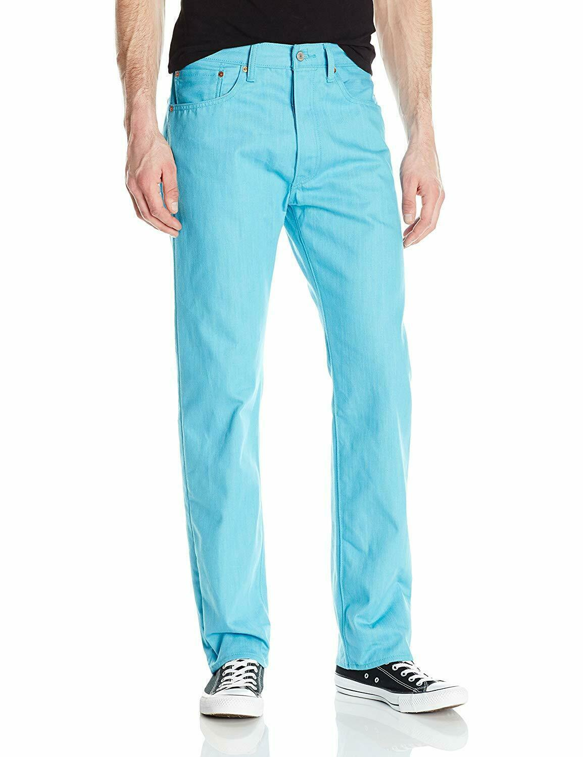 Levi's Strauss 501 Men's Shrink To Fit Straight Leg Jeans Button Fly 501-2406
