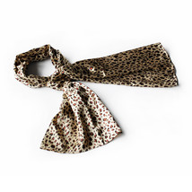 Brown Leopard Stylish Delicately Soft Silky Scarf(Small) - $14.99