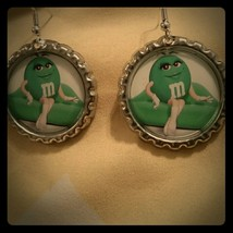 M and m candy mandms  lady cute earrings - $3.95
