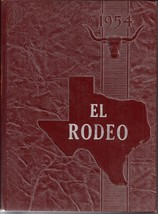 Big Spring, Texas High School Yearbook, 1954 El Rodeo - $27.26