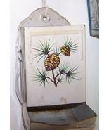 Antique Hanging Metal/Tin Match Box Holder Lot # 129 - $45.00