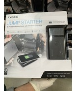 Type S Jump Starter And Portable Power Bank With Wireless Charging New - $89.99