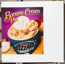 Dairy queen promotional poster for backlit menu banana cream pie dq2 - $74.03