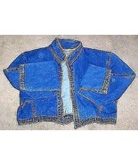 Avon Fashions Blue Jean Denim Cropped Jacket Sz Medium - $25.64