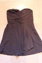 W12748 Womens EXPRESS Gray Flowy STRAPLESS DRESS Bridesmaid sz 12 - $34.76
