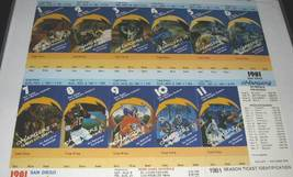 1981 San Diego Chargers 11 Full Season Tickets Framed - $125.00