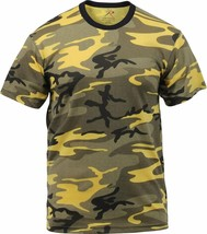 Mens Stinger Yellow Camouflage Tactical Military Short Sleeve T-Shirt - $11.99+