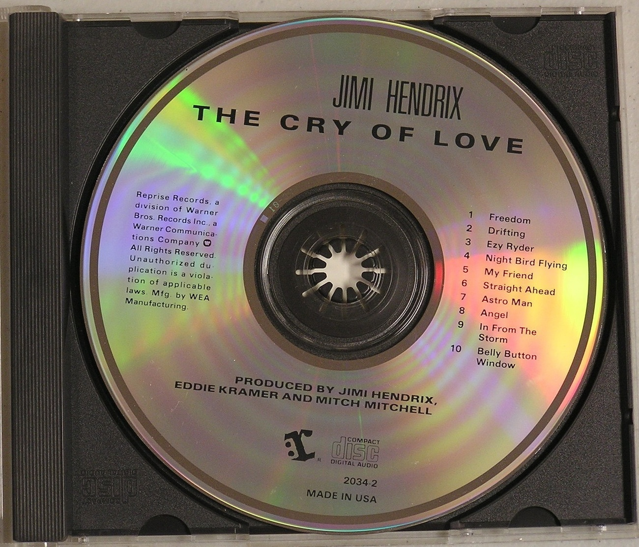 jimi hendrix the cry of love cd 1970 reprise records cds. Black Bedroom Furniture Sets. Home Design Ideas