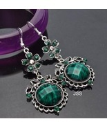 Stunning Green Flower Dangle Earrings - $12.95