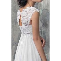 Designer Chiffon Wedding Dress High Waist Maternity Wedding Gown image 4
