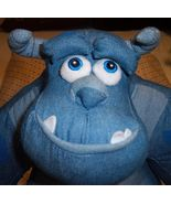 Sulley Monsters Inc Denim Blue Soft Doll Disney Store Exclusive - $14.00