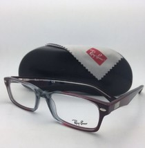 RAY-BAN Rx-able Eyeglasses HIGHSTREET RB 5206 5517 54-18 Grey-Red Burgundy Frame