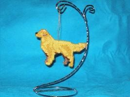 Golden Retriever ornament decor handmade dog art, everyday display or Ch... - $26.00