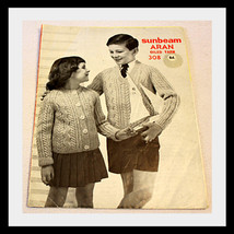 SUNBEAM ARAN KNITTING PATTERN BOOK, OILED YARN - $9.29