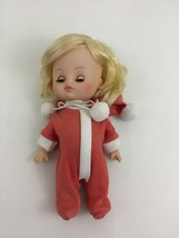 "Horsman 9"" Doll Vinyl Baby Blond Blue Blinky Eyes Hooded Pajamas Vintage... - $19.75"
