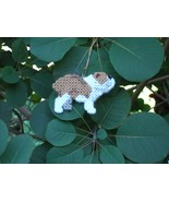 Bulldog ornament home decor handmade dog art, f... - $15.00