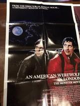 American Werewolf in London, original movie poster, folded, 1981 - $94.05