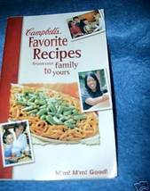 Campbell's, Favorite Recipes From Our Family To Yours - $2.50