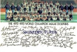 Miami Dolphins Team 1972 Autographed Rp Photo Joe Robbie Griese Kiick Csonka + - $13.99