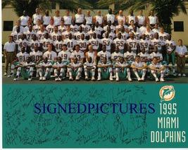 Miami Dolphins Team 1995 Autographed 8x10 Rp Photo Dan Marino Mcduffie Fryer + - $13.99