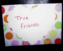 True Friends Dot Heart Card , Handcrafted scrap happy card - $4.95