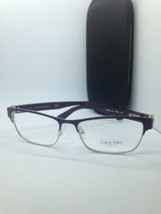 NEW AUTHENTIC CALVIN KLEIN CK7392 501 PURPLE EYEGLASSES FRAME RX 51-15 W... - $28.04
