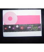 O the Joy of, knowing your my friend Card , Handcrafted scrap happy card - $4.95