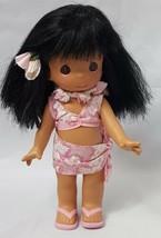 Precious Moments Mahealani Hawaiian Doll Pink Lei Skirt Hawaii Exclusive... - $37.19