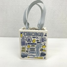 Starbucks Chicago Been There Tote Bag Ceramic Christmas Ornament Gift Ho... - $28.41