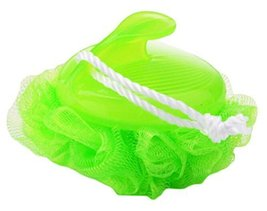 Large Size Cute Soft Bath Ball Back Sponge With Easy Handle-Green - $11.48