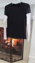 Theory Andre Subtle Midnight Top Sz M Retail $105.00 - $69.30