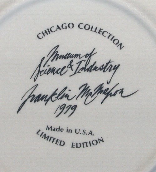 Franklin McMahon Chicago Museum Science and Industry Plate 1979 Limited Edition
