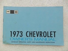 1973 Chevrolet Chevy Owners Manual 15997 - $16.82