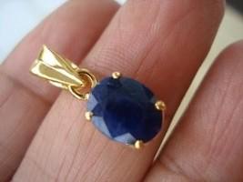 GENUINE 8X10MM 6 CARATS CEYLON BLUE SAPPHIRE PENDANT sld - $89.00