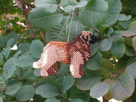 Leonberger ornament home decor handmade dog art, everyday display or Chr... - $28.00