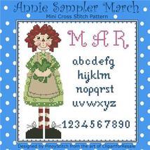 March Annie Mini Sampler cross stitch chart Pinoy Stitch - $6.30