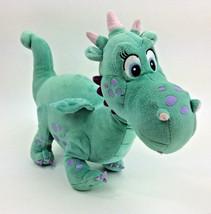 Disney Store Plush Sofia Crackle Dragon Dinosaur Green Blue Girl Stuffed... - $38.62