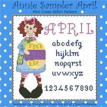 April Annie Mini Sampler cross stitch chart Pinoy Stitch - $6.30