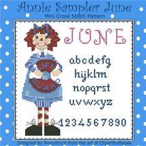 June Annie Mini Sampler cross stitch chart Pinoy Stitch - $6.30