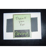 Thank you for giving Card , Handcrafted scrap happy card - $4.95