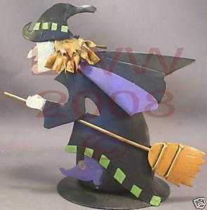 Metal Witch Candle Tealight Holder NEW Halloween Bonanza